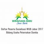 Daftar Peserta Sosialisasi WUB Jabar 2017 Bidang Usaha Peternakan Domba